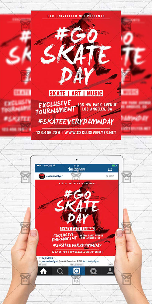 Flyer Template - Go Skate