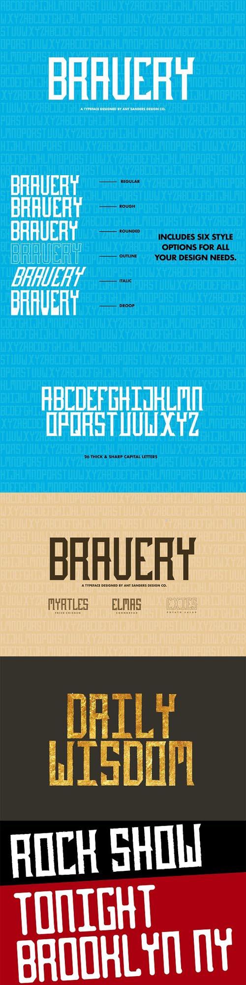 ASD Bravery Font Family 1327068