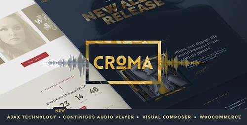 ThemeForest - Croma v2.2.1 - Responsive Music WordPress Theme with Ajax and Continuous Playback - 15182698