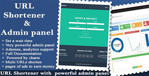 CodeCanyon - URL Shortener with Ads and Powerful Admin Panel v1.8.6 - 9612725
