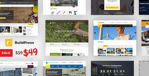 ThemeForest - BuildPress v5.0.0 - Multi-purpose Construction and Landscape WP Theme - 9323981