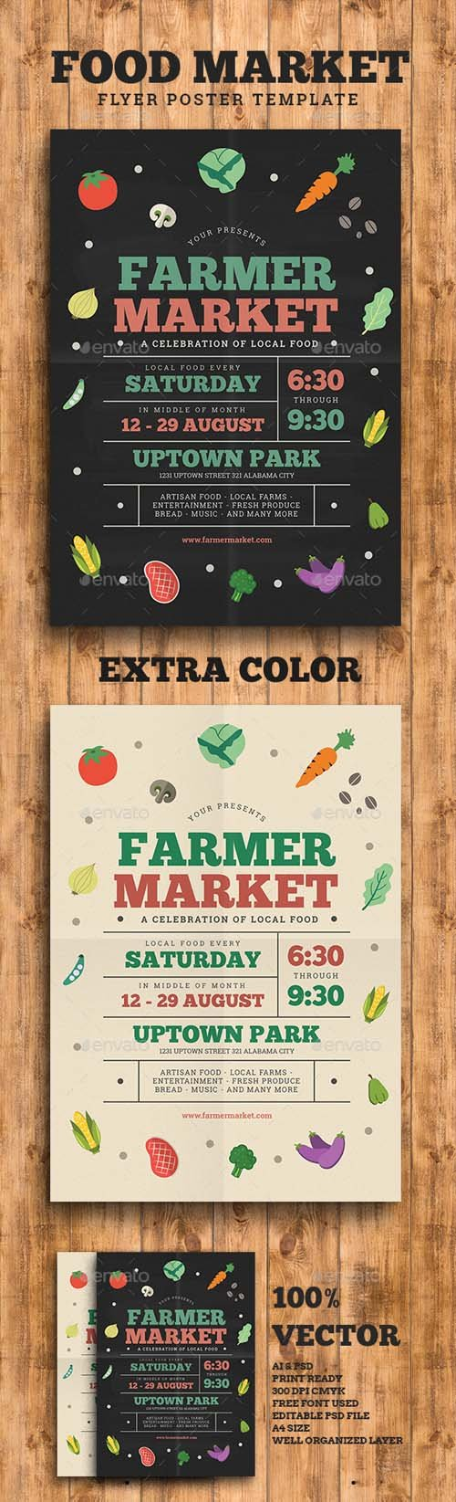 Farmer/Food Market Flyer 16118198