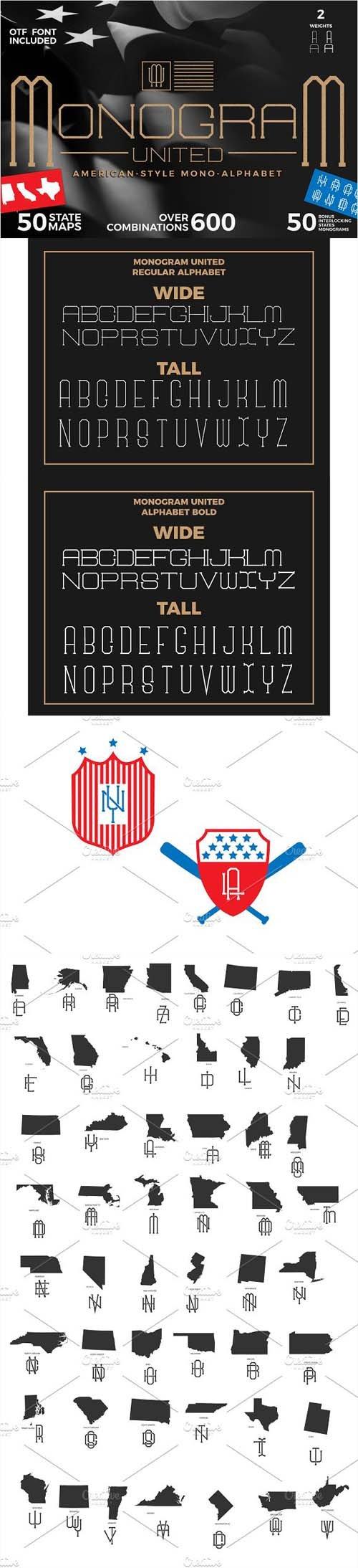 Monogram Font Type font Serif 1330746