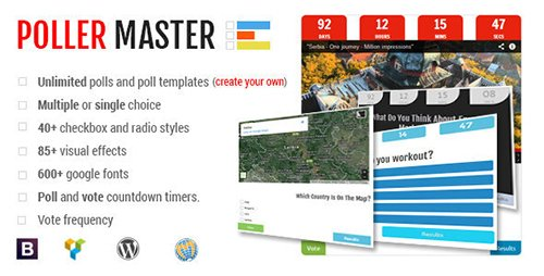 CodeCanyon - Poller Master v1.4 - Ultimate WP Polling System - 7629879