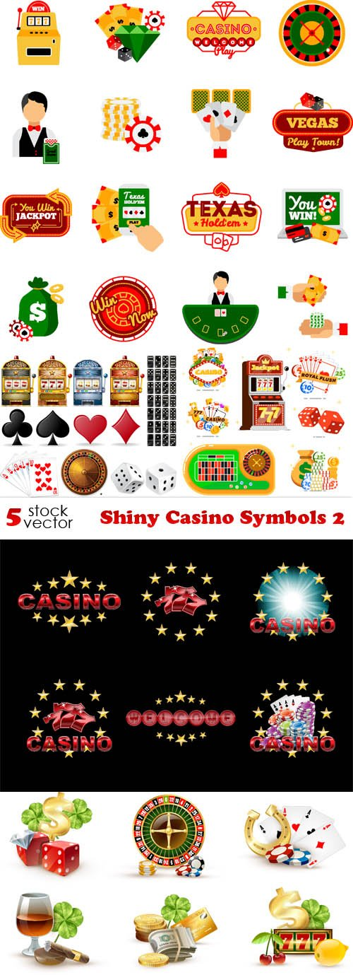 Vectors - Shiny Casino Symbols 2