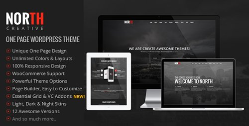 ThemeForest - North v3.4.0 - One Page Parallax WordPress Theme - 8454561