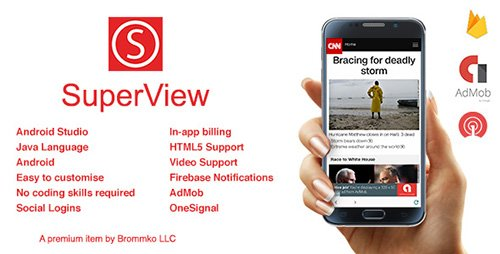 CodeCanyon - SuperView v2.0.2 - WebView App for Android with Push Notification, AdMob, In-app Billing App - 18033758