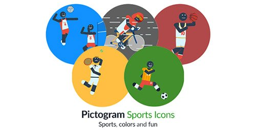 Pictogram Sports Icons - Project for After Effects (Videohive)