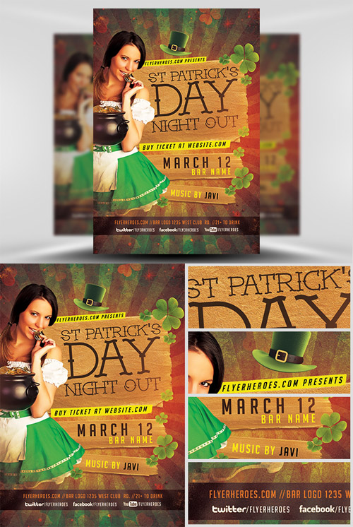 Flyer Template - St. Patricks Night Out
