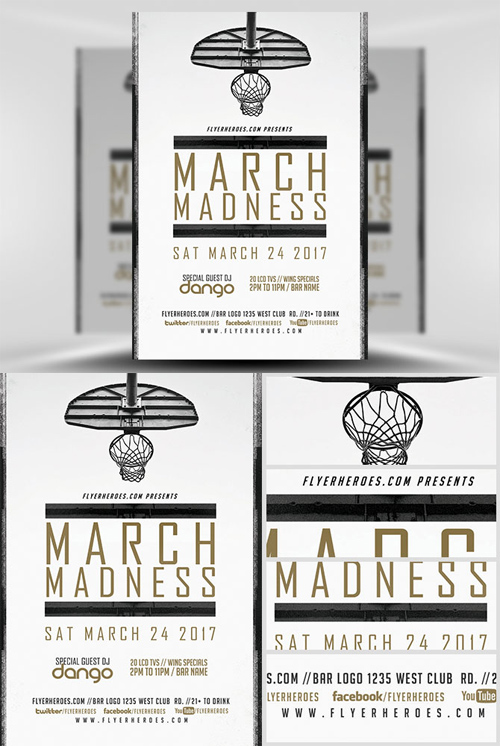 Flyer Template - March Madness Basketball v2