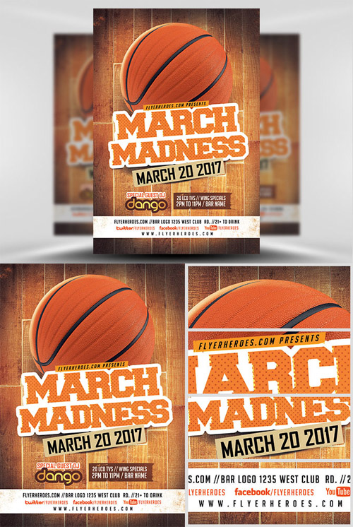 Flyer Template - March Madness Basketball