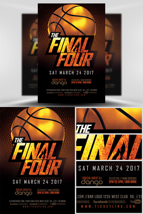 Flyer Template - The Final Four Basketball