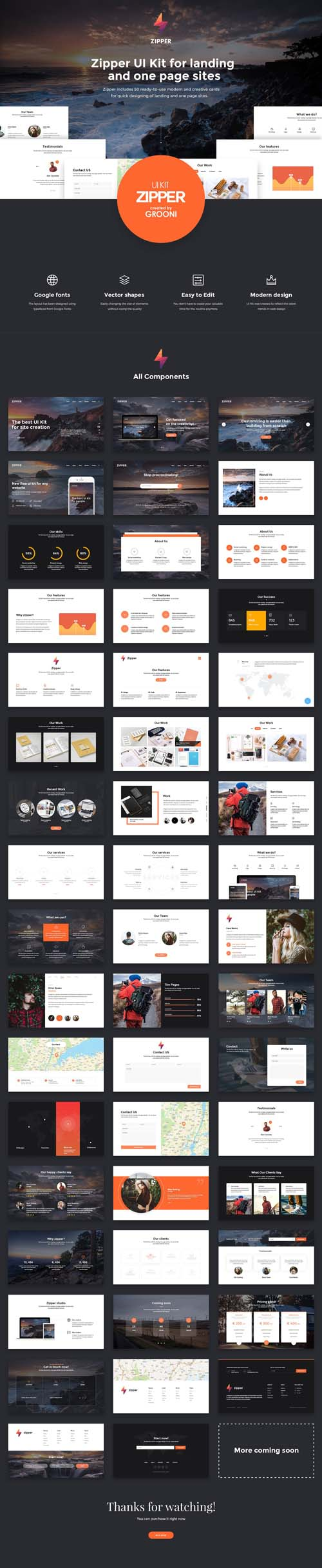 Zipper UI Kit 1311021