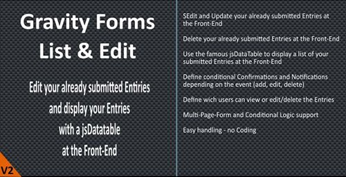 CodeCanyon - Gravity Forms - List & Edit v2.3.0 - 5968424