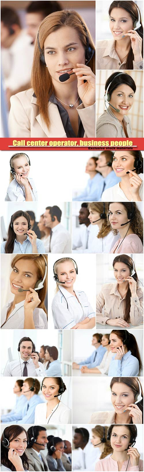 Call center operator, business people