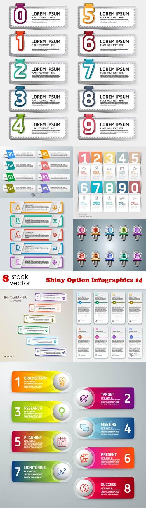 Vectors - Shiny Option Infographics 14