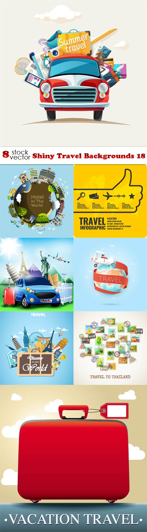 Vectors - Shiny Travel Backgrounds 18