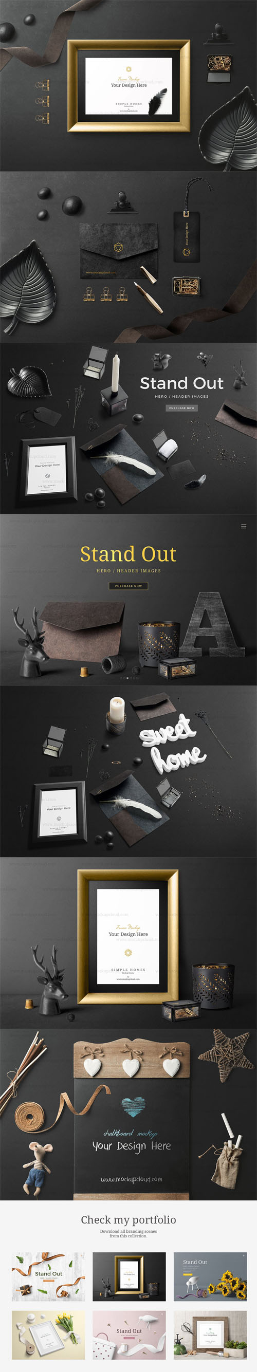 PSD Simple Homes Mockup Vol. 6
