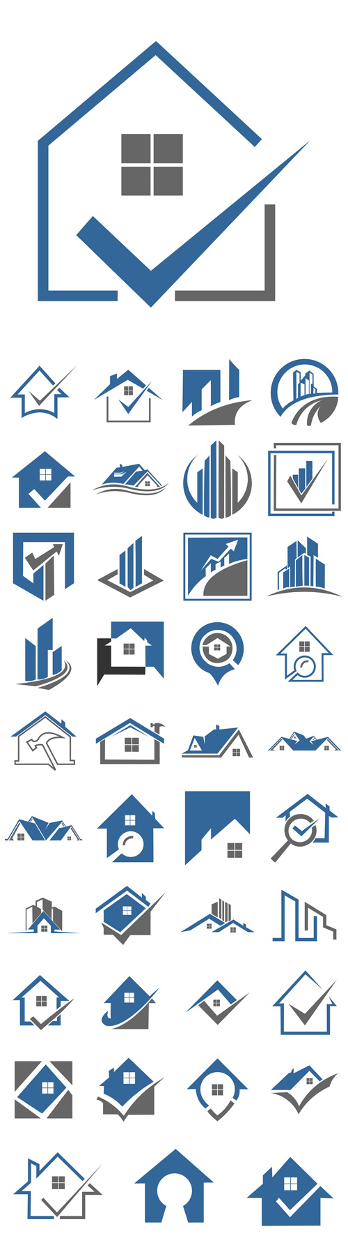 Vector House Real Estate Residential Building Logos