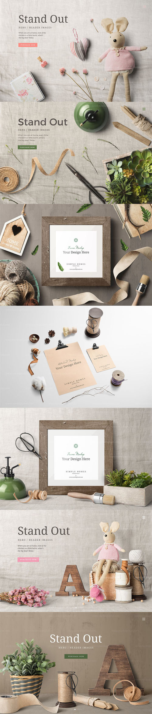 PSD Simple Homes Mockup Vol. 7
