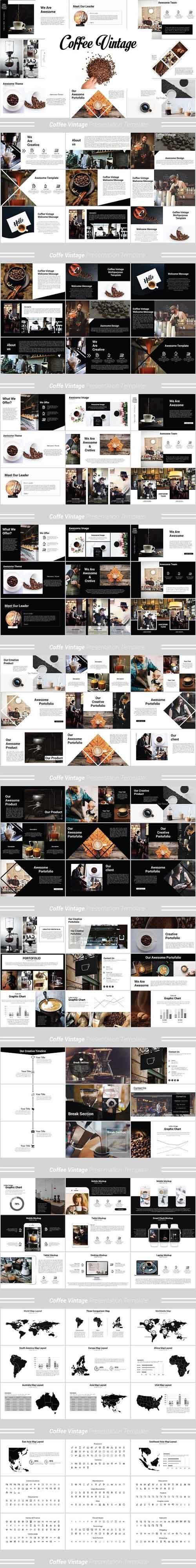 Coffee Vintage Powerpoint Template 1336183