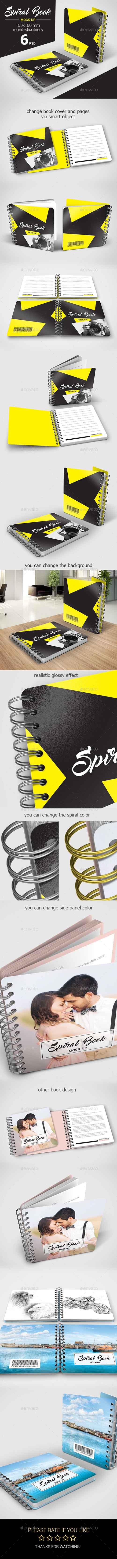 Spiral Book Mock-Up 16955801