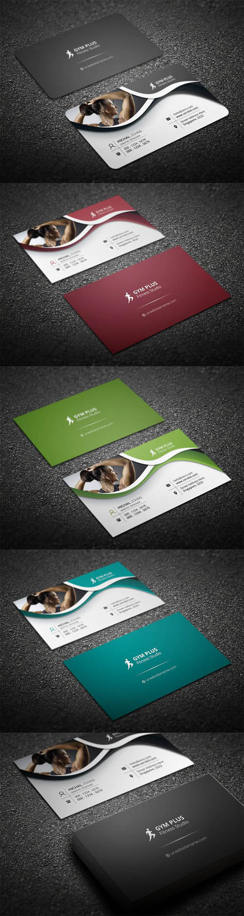 Gym Fitness Business Card 1338388