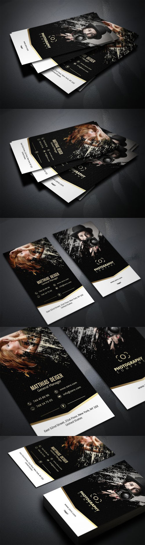 Gold Photography Business Card 1339447