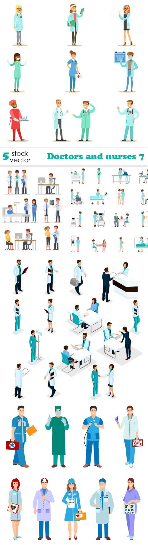 Vectors - Doctors and nurses 7