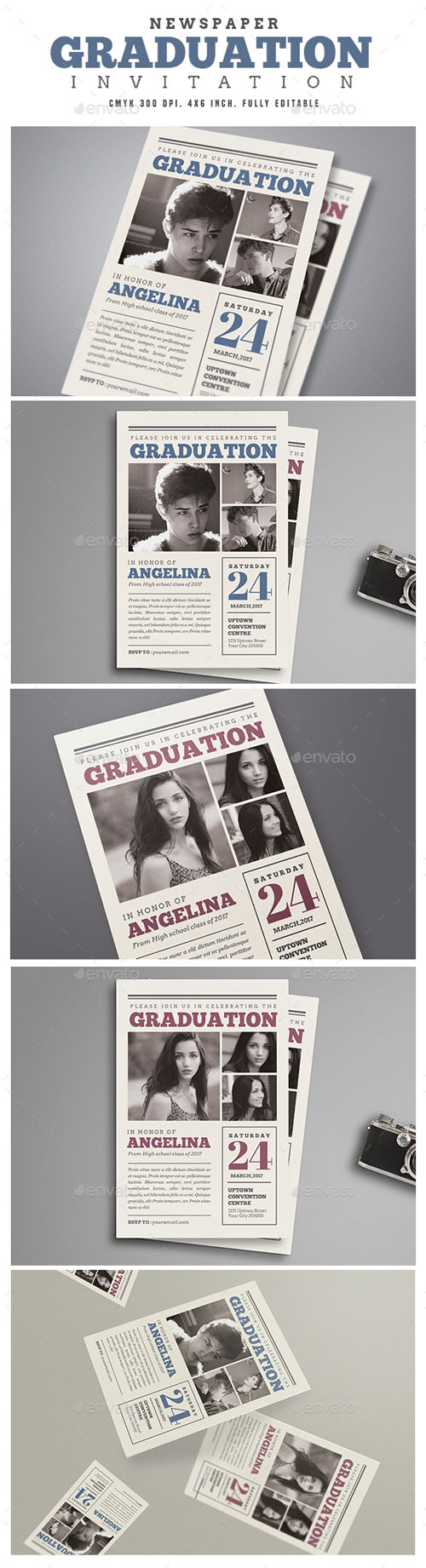 Newspaper Graduation invitation 15819158