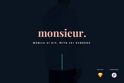monsieur. Mobile E-commerce UI Kit - CM 1299969