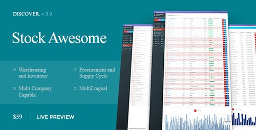 CodeCanyon - Stock Awesome v3.0.24 - Warehouse Management And Invoicing - 11210315