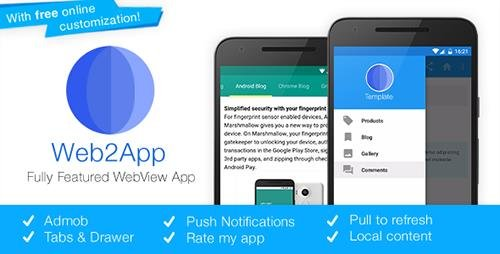 CodeCanyon - Web2App v3.1 - Quickest Feature-Rich Android Webview - 8980493