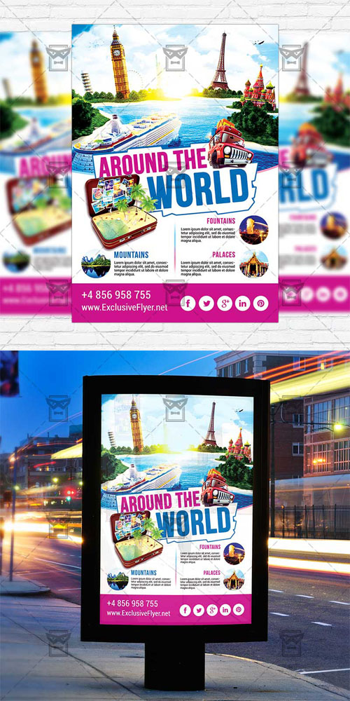 Flyer Template - Around the World