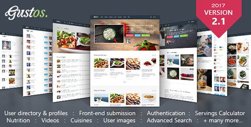ThemeForest - Gustos v2.1.2 - Community-Driven Recipes WordPress Theme - 10408604