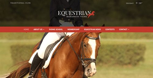 ThemeForest - Equestrian v4.2.2 - Horses and Stables WordPress Theme - 5206121