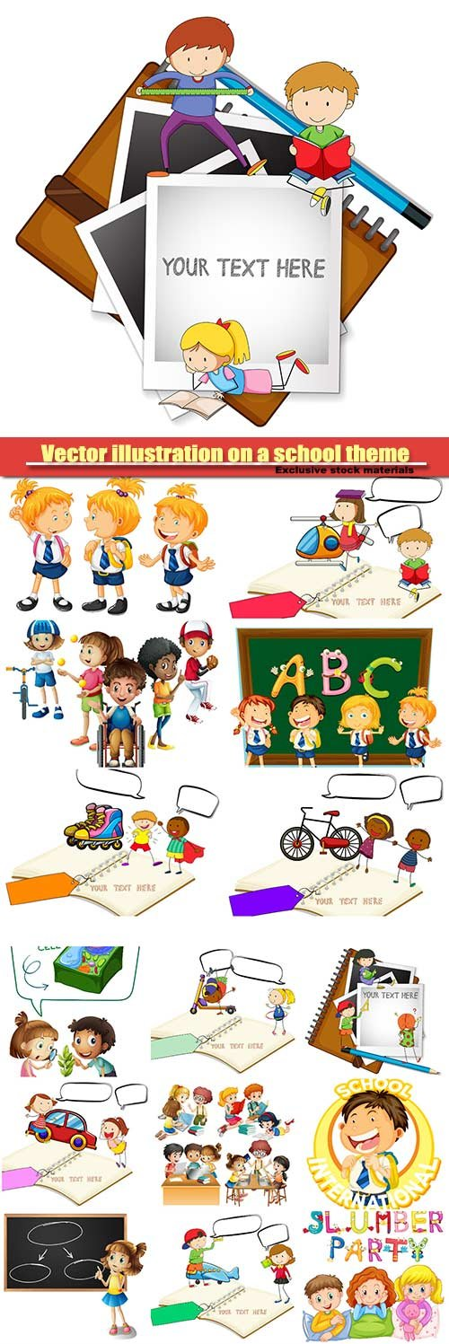 Vector illustration on a school theme