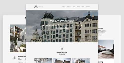 ThemeForest - Woodbury Architects v1.0.0 - Minimalist Portfolio Joomla Template for Architects - 19522002