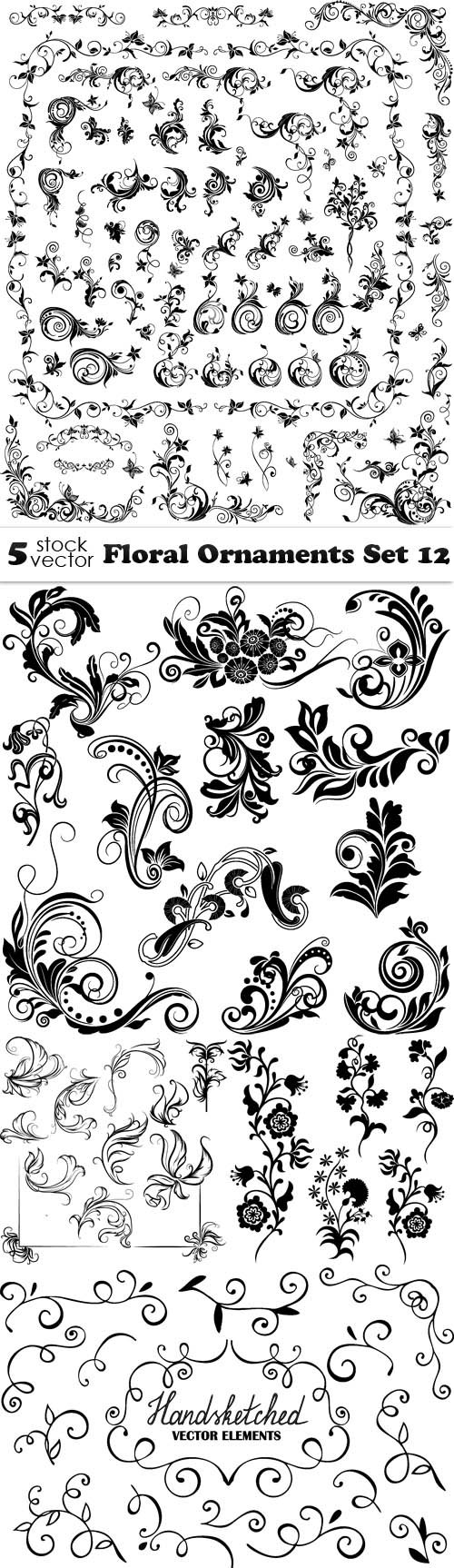 Vectors - Floral Ornaments Set 12