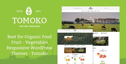 ThemeForest - Organic Food/Fruit/Vegetables Responsive WordPress Theme - Tomoko v1.0 - 15384577