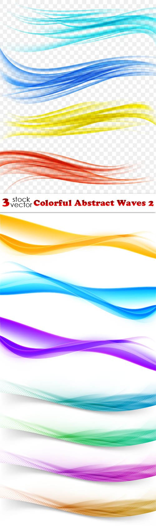 Vectors - Colorful Abstract Waves 2