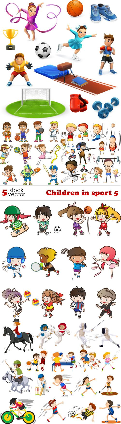 Vectors - Children in sport 5