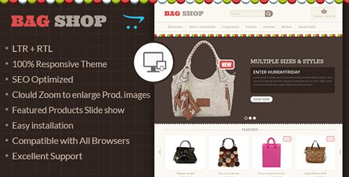 ThemeForest - Bag Shop - OpenCart Responsive Theme (Update: 29 March 2016) - 6550519