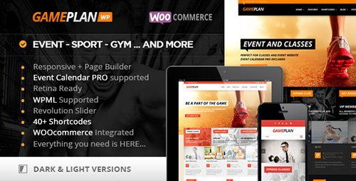 ThemeForest - Gameplan v1.5.13.2 - Event and Gym Fitness WordPress Theme - 5936266