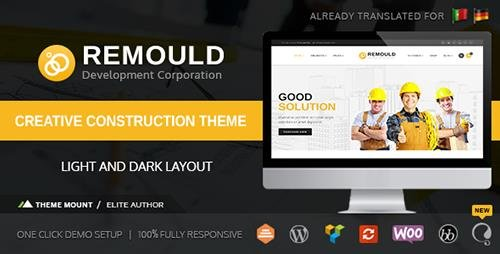 ThemeForest - Remould v5.2 - Construction & Building WordPress Theme - 12321094