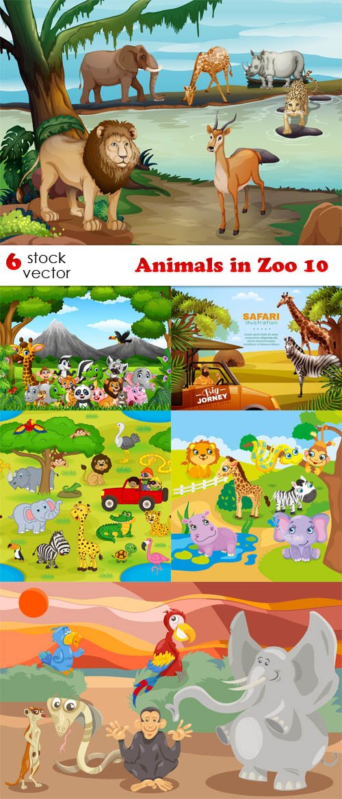 Vectors - Animals in Zoo 10