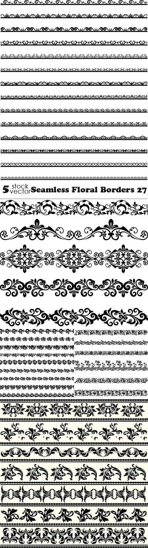Vectors - Seamless Floral Borders 27