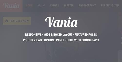 ThemeForest - Vania v1.8 - Responsive WordPress News Theme - 11958659