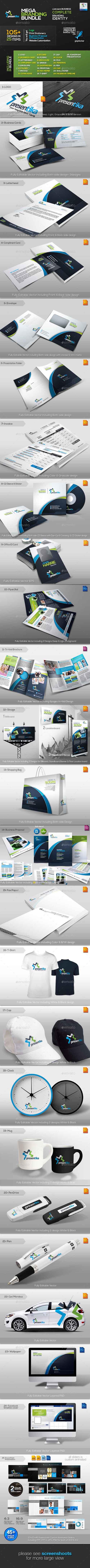 Presentica: Business Identity Mega Branding Bundle 2994870