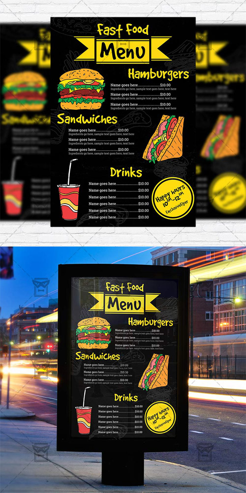 Fast Food - Flyer Template
